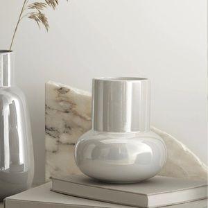 CB2 Iridescent stoneware glaze glossy vase